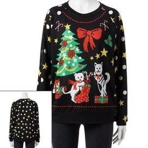 Freeze Ugly Cat Christmas Sweater